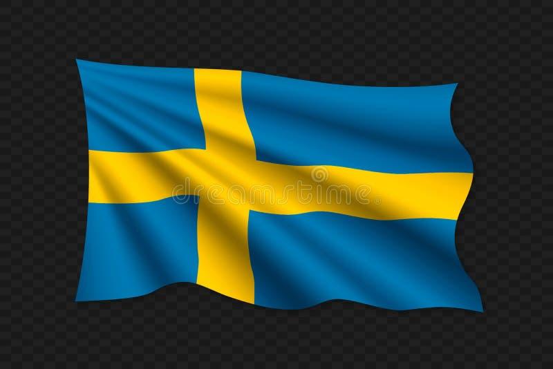 3D falowania flaga ilustracji