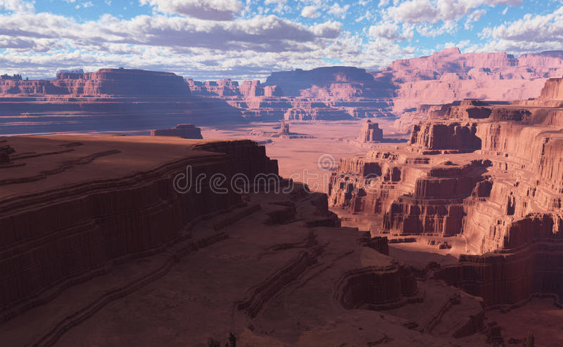 3D Fantasy Desert Landscape With Great Sand Dunes Stock