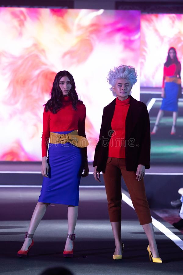 D?fil? de mode de la nouvelle collection dans la semaine internationale 2019, BIFW ?19 de mode de Bangkok photos libres de droits