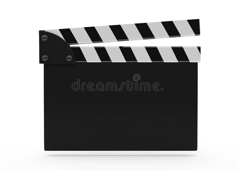 Film Slate On White royalty free illustration