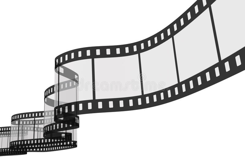 3d film strip vector illustration