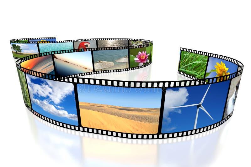 3D film tape vector illustration