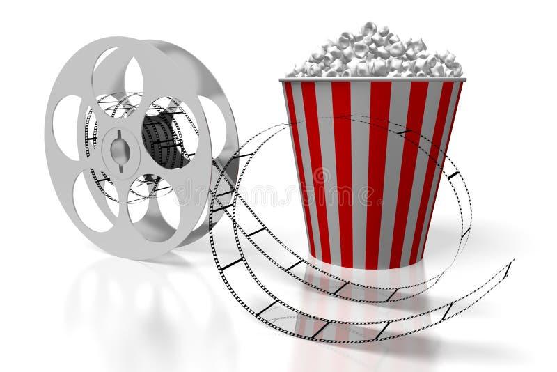 3D films, concept de cinéma illustration de vecteur