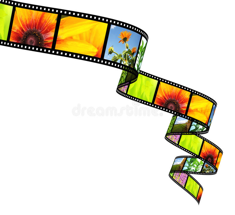 3d filmstrip在白色的查出的对象 皇族释放例证