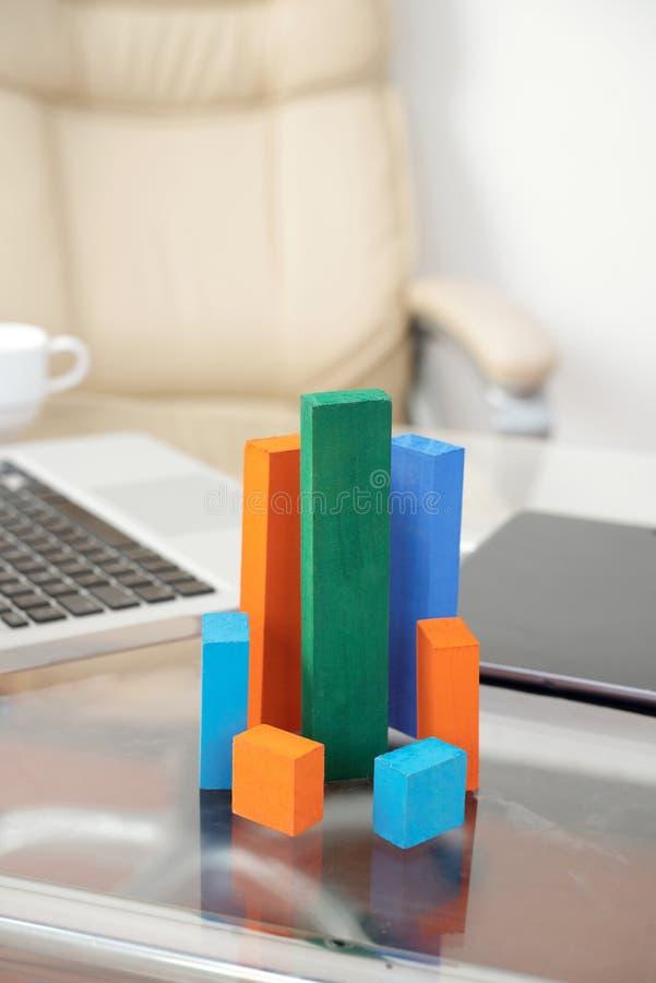 3D financial diagram royalty free stock image