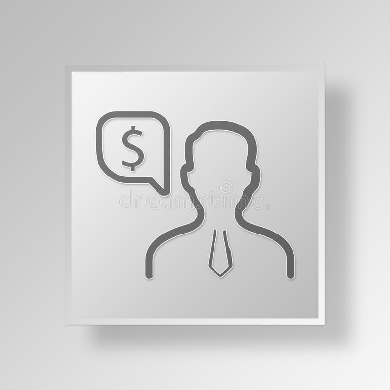 Download 3D Finanzmanager Button Icon Concept Stock Abbildung - Illustration von auszug, finanzierung: 90229150