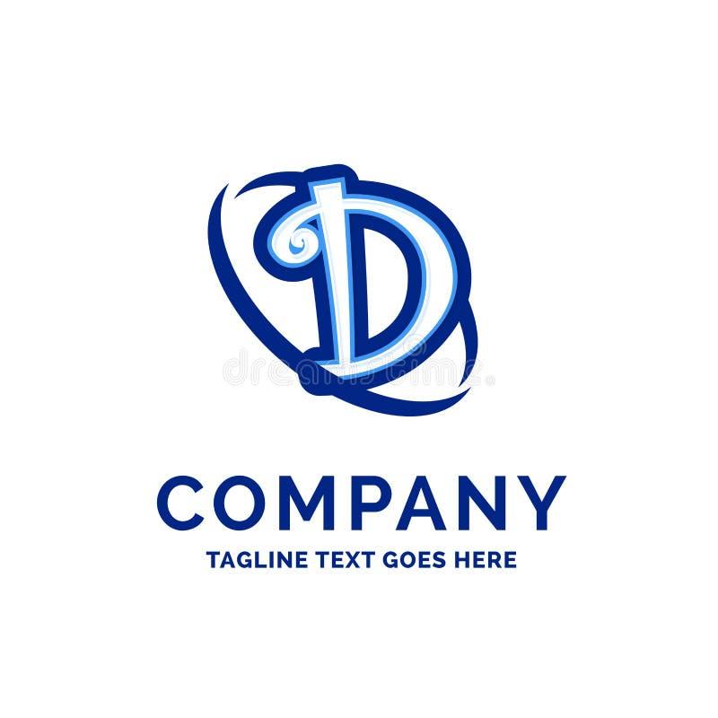 D Firmanaamontwerp Blauw Logo Design stock illustratie