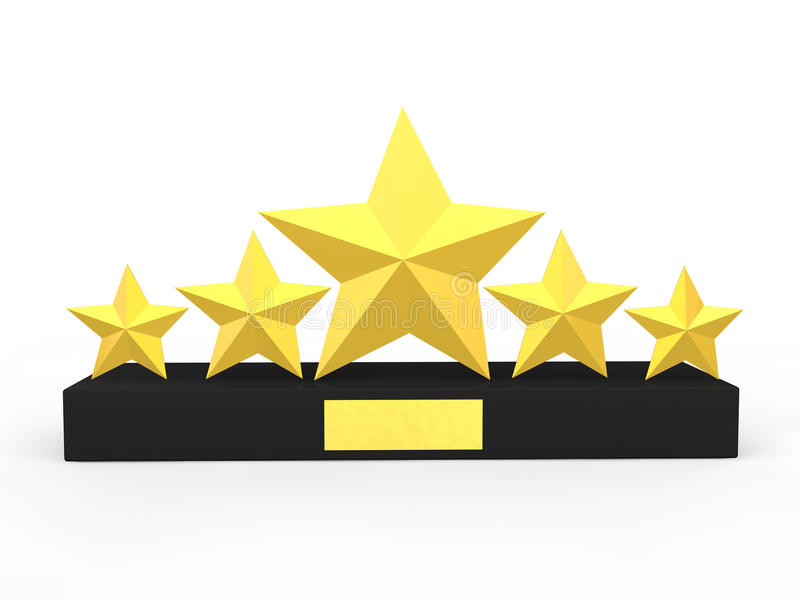 3d five stars award royalty free stock photography