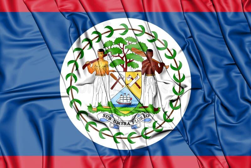 3D Flag of Belize. 3D Illustration stock illustration