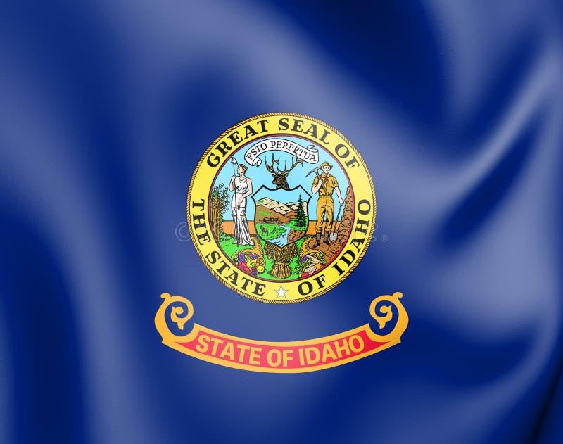 3D Flag of Idaho, USA. 3D Illustration vector illustration