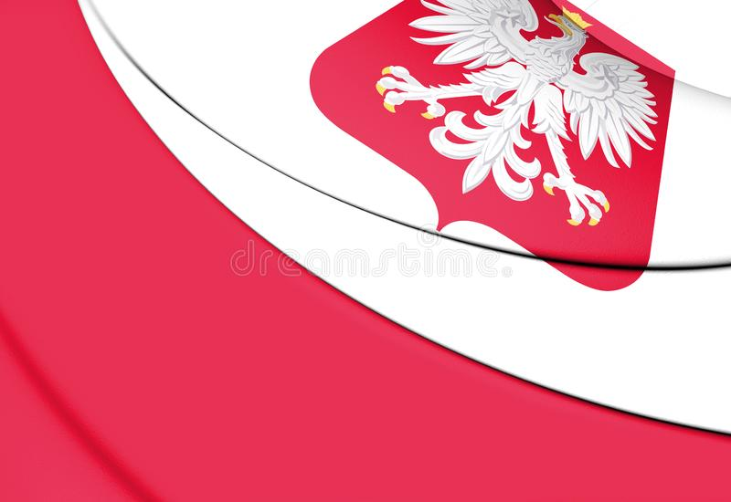 3D Flag of Poland. 3D Illustration royalty free illustration