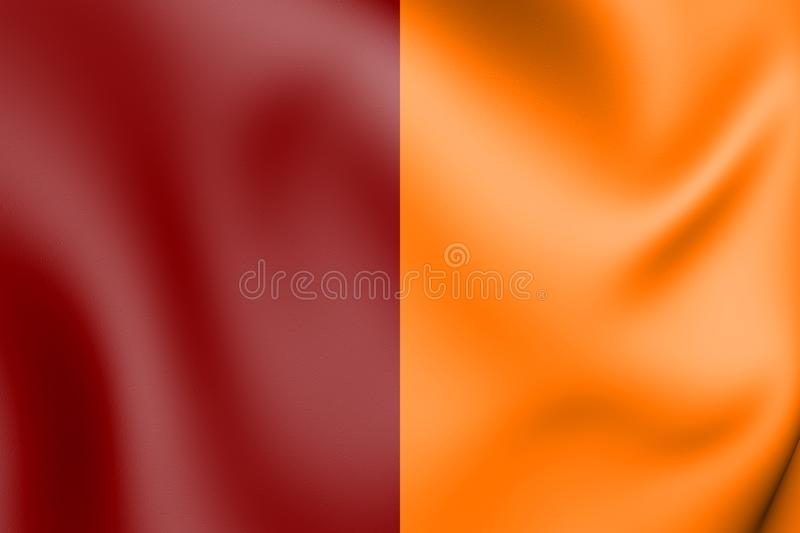 3D Flag of Roma, Italy stock illustration