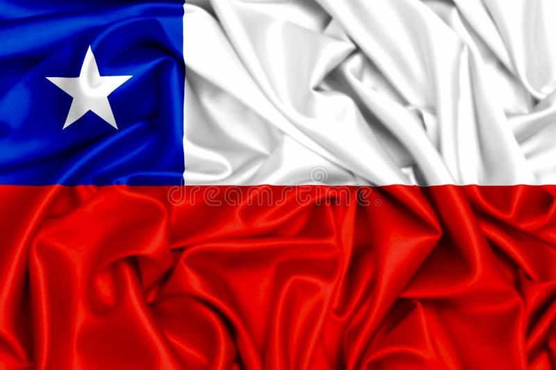 3d flaga Chile falowanie ilustracji