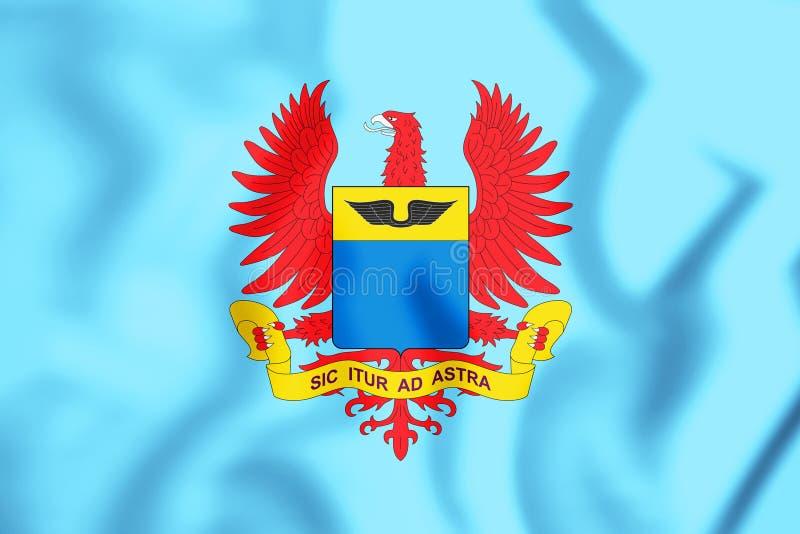 3D flaga Kolumbijska siły powietrzne royalty ilustracja