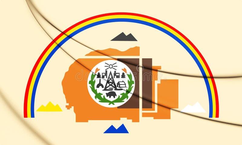 3D flaga Navajo naród ilustracja wektor