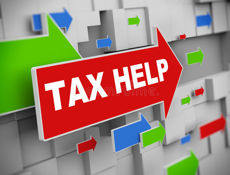 3d flecha móvil - ayuda del impuesto libre illustration