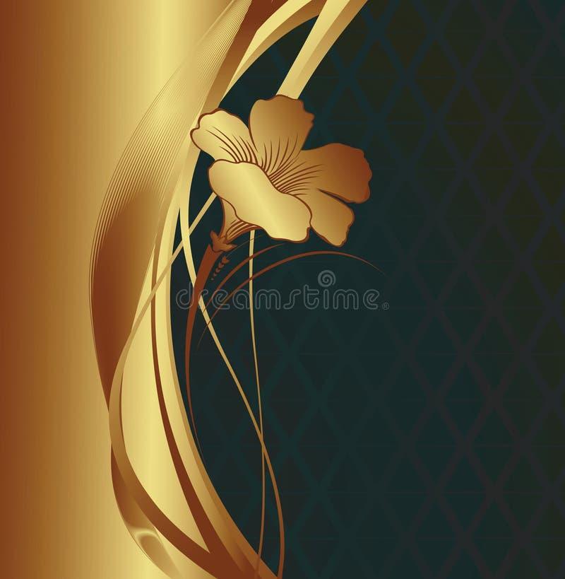 d'or floral de fond illustration de vecteur