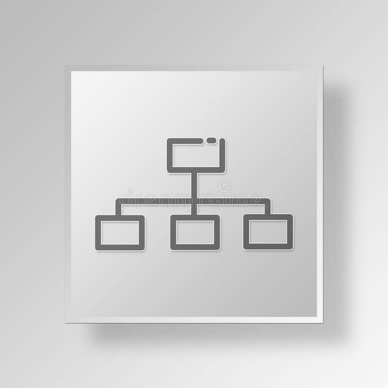 3D flowchart icon Business Concept royalty free illustration