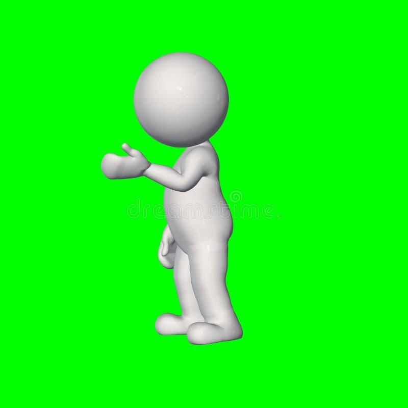 3D folk - samtal 1 - grön skärm stock illustrationer