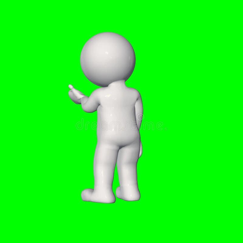 3D folk - samtal 4 - grön skärm stock illustrationer