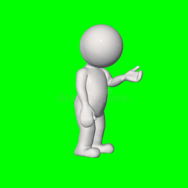 3D folk - samtal 3 - grön skärm stock illustrationer