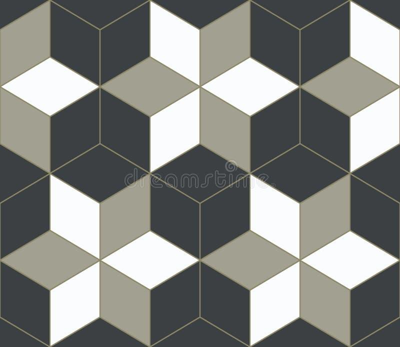 3D fondo geométrico abstracto, mosaico stock de ilustración
