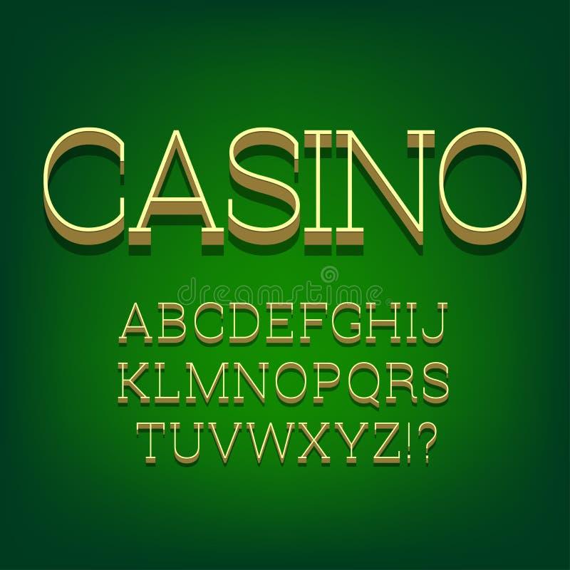 3d font alphabet. stock illustration
