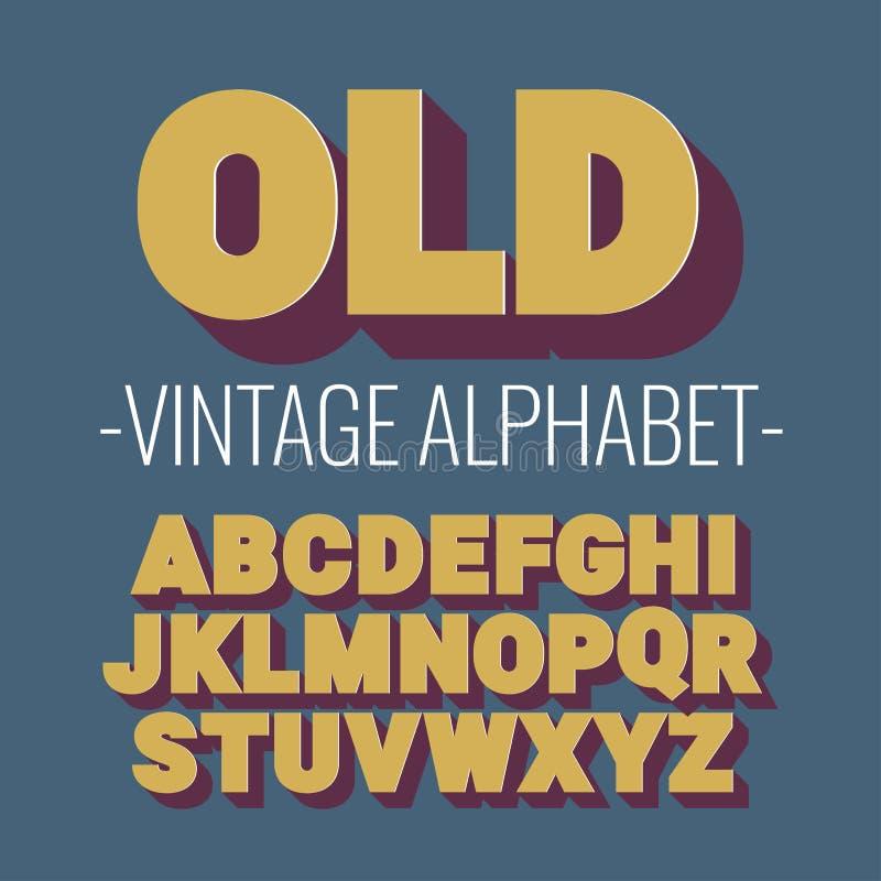 3d font alphabet. royalty free illustration