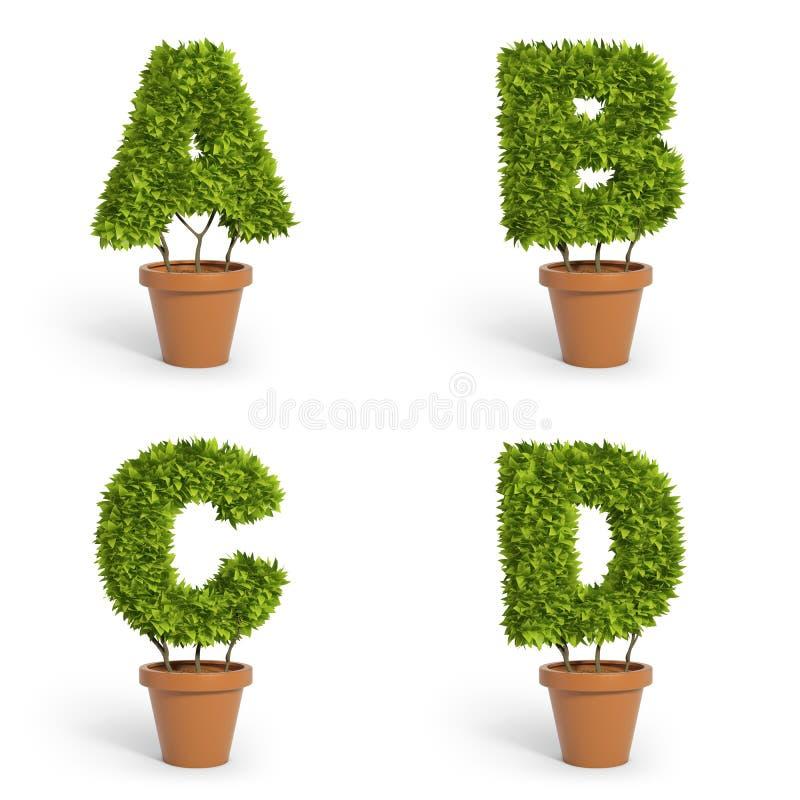 3d Font Pot Plants Royalty Free Stock Photo Image 35570385