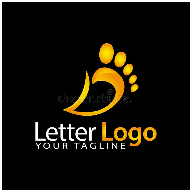 D foot logo template, stock logo template royalty free illustration