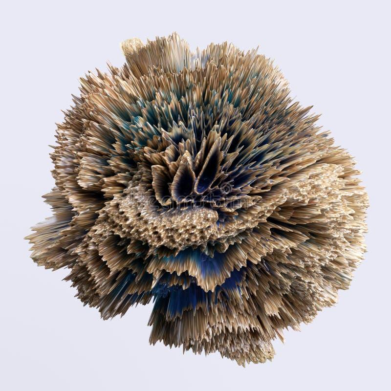 3d forma extraña distorsionada abstracta, cosa extraña, objeto artificial aislado en fondo blanco ilustración del vector