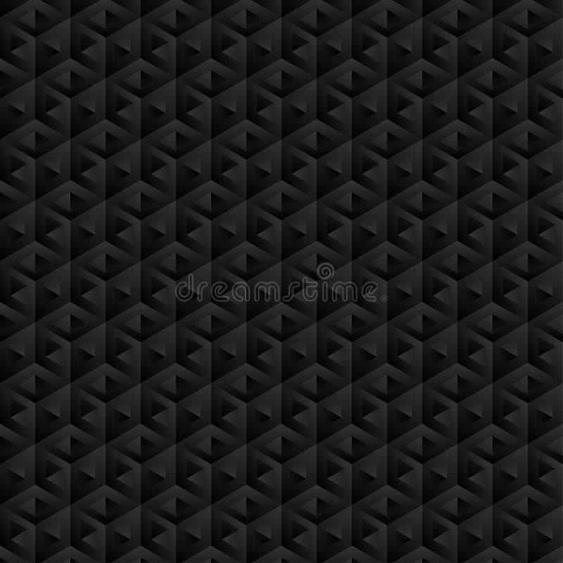 3D forma, modello, colore dell'ombra, nero, grigio come fondo, astratto illustrazione vettoriale