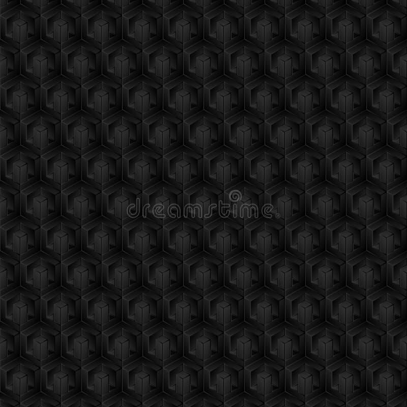 3D forma, modelo, color de la sombra, negro, gris como fondo, abstracto stock de ilustración