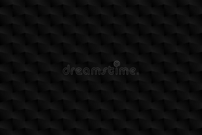 3D forma, teste padrão, cor da sombra, preto, cinzenta como o fundo, abstrato ilustração do vetor