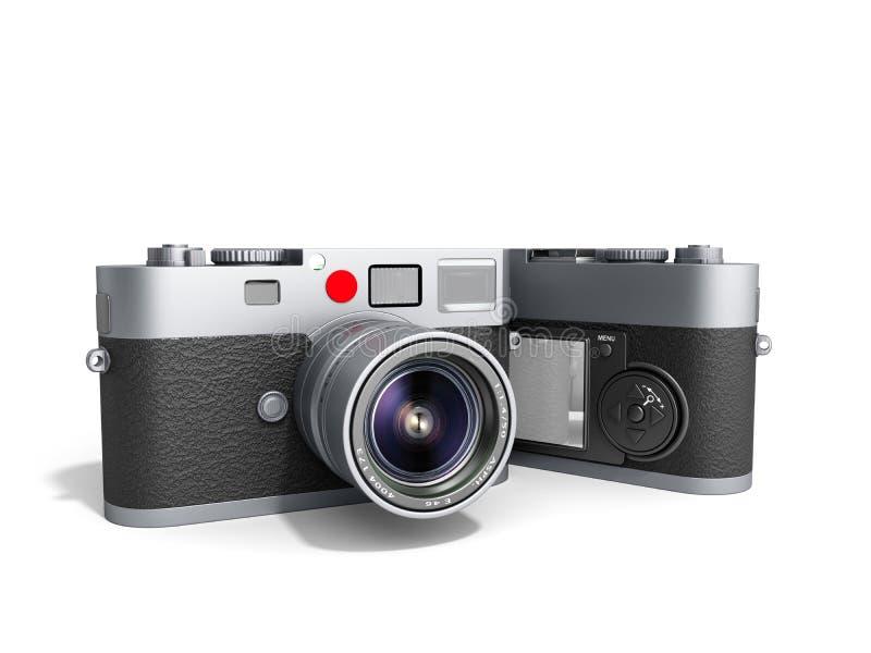 3d foto de camera's geven op wit terug royalty-vrije illustratie