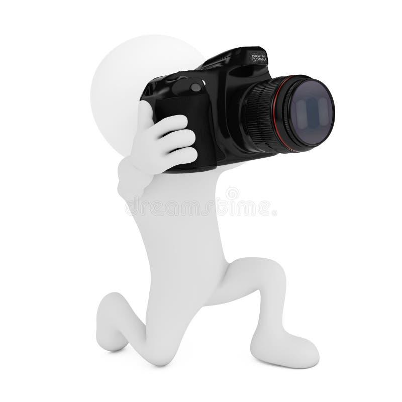 3d fotografa osoba z Cyfrową kamerą świadczenia 3 d ilustracji
