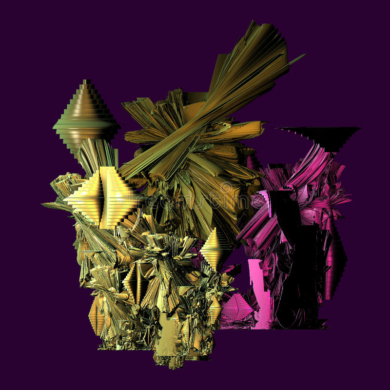 3d fractal achtergrond royalty-vrije stock foto