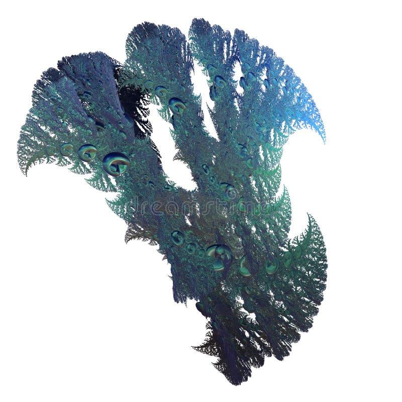 3d fractal achtergrond stock afbeelding