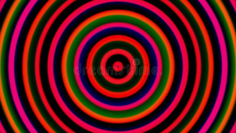 3d frambragte hypnotiska spiral, virvlande runt radiell virvelbakgrund, dator id?rik konst stock illustrationer