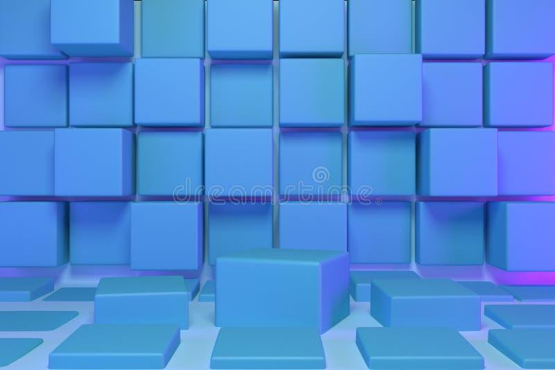 3d framför, abstrakt geometrisk bakgrund, minimalistic primitiva former, modern åtlöje upp som är tomma ställer ut, shoppar skärm vektor illustrationer