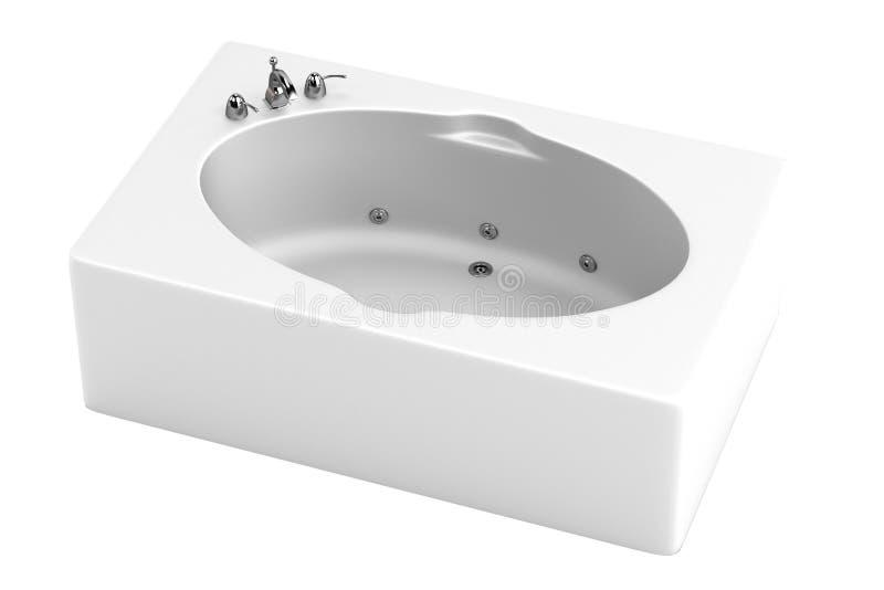 3d framför av bad badar royaltyfri illustrationer