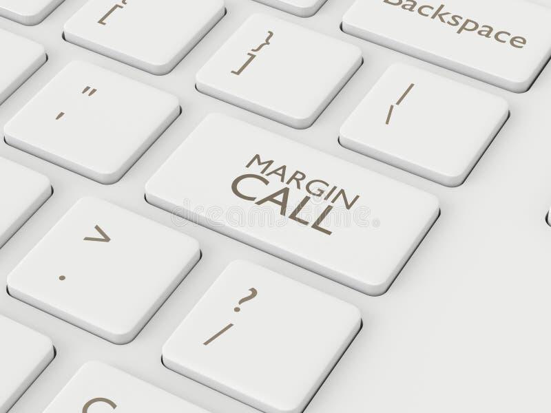 3d framför av datortangentbordet med knappen för MARGINALAPPELLEN vektor illustrationer