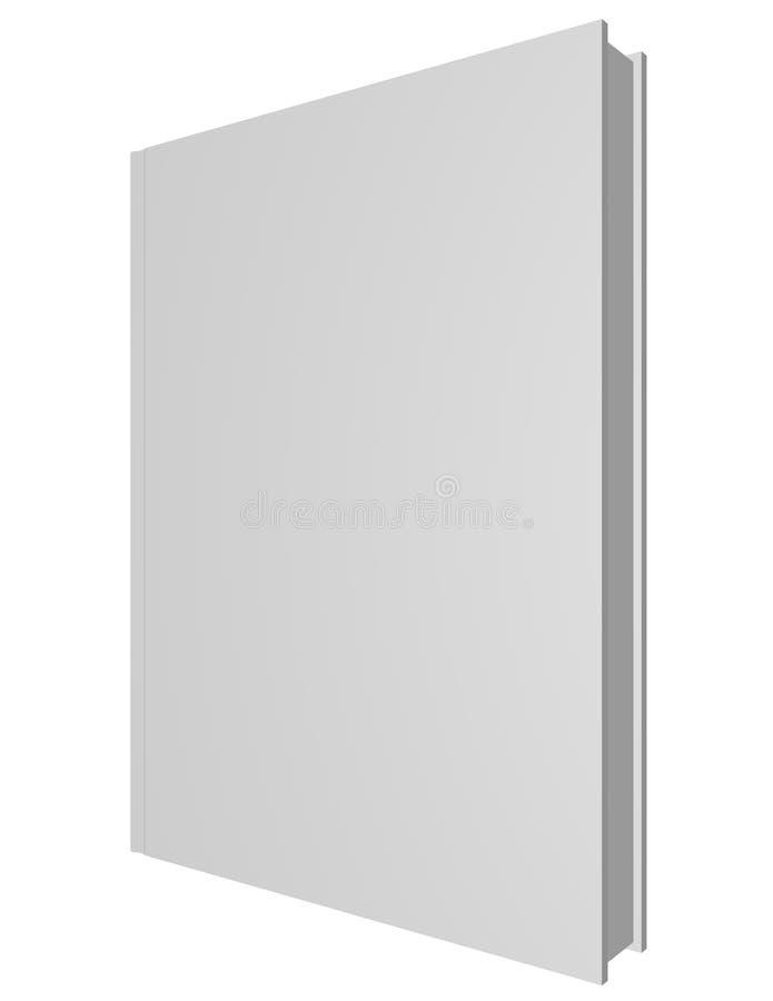3d framför av en tom bok stock illustrationer