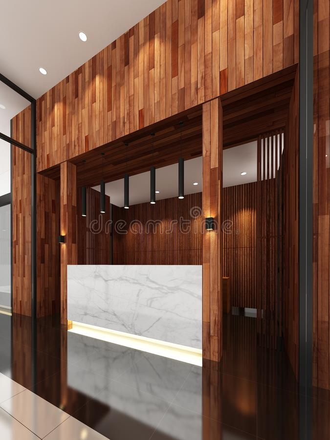 3d framför av lobby vektor illustrationer