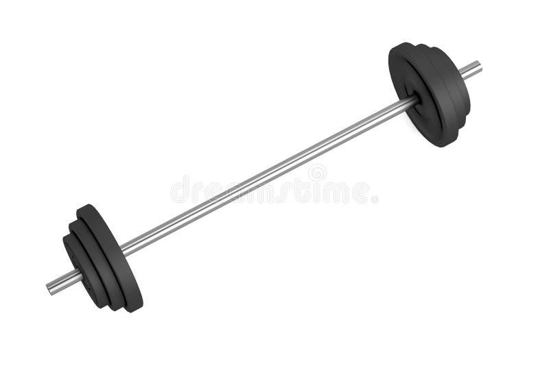 3d framför av lyftande vikter stock illustrationer