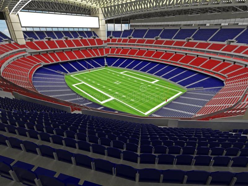 3D framför av modern stadion för den toppna bunken för amerikansk fotboll lookalike - 3d framför vektor illustrationer
