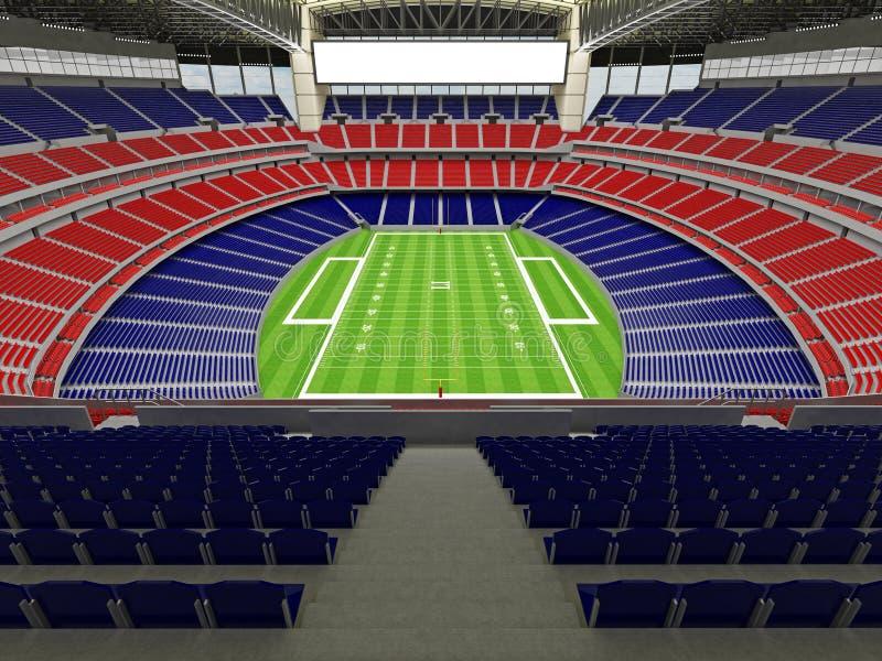 3D framför av modern stadion för den toppna bunken för amerikansk fotboll lookalike - 3d framför royaltyfri illustrationer