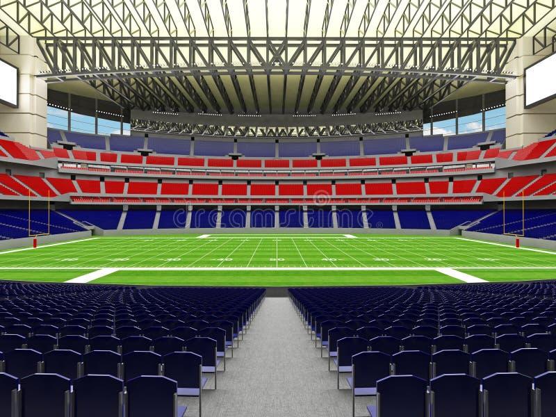 3D framför av modern stadion för den toppna bunken för amerikansk fotboll lookalike - 3d framför stock illustrationer