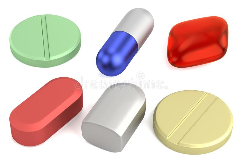 Download 3d Framför Av Preventivpillerar Stock Illustrationer - Illustration av illustration, droger: 37345153