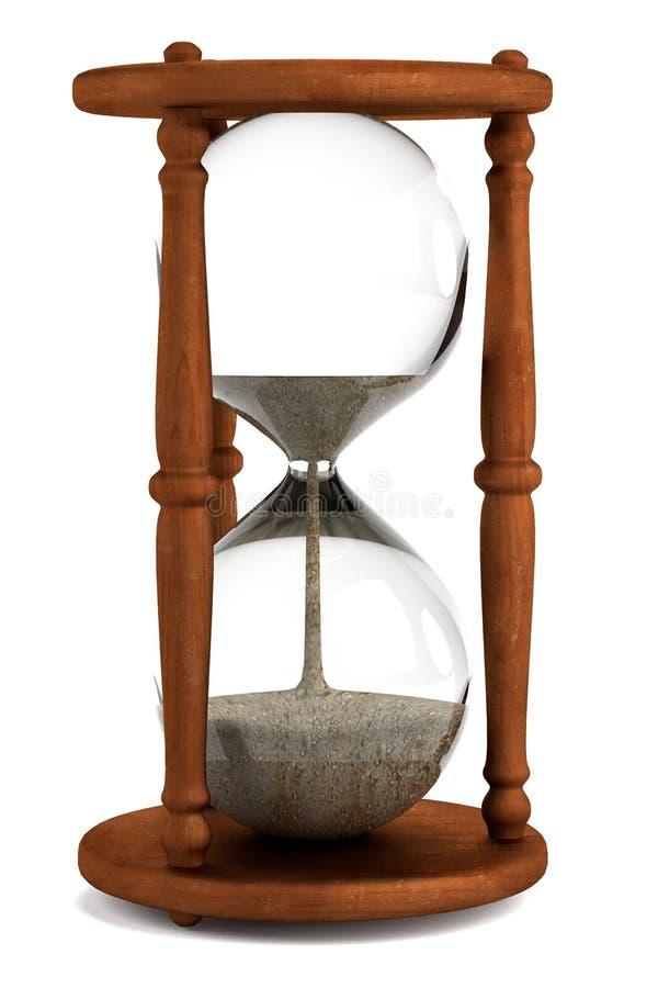 3d framför av timglaset stock illustrationer